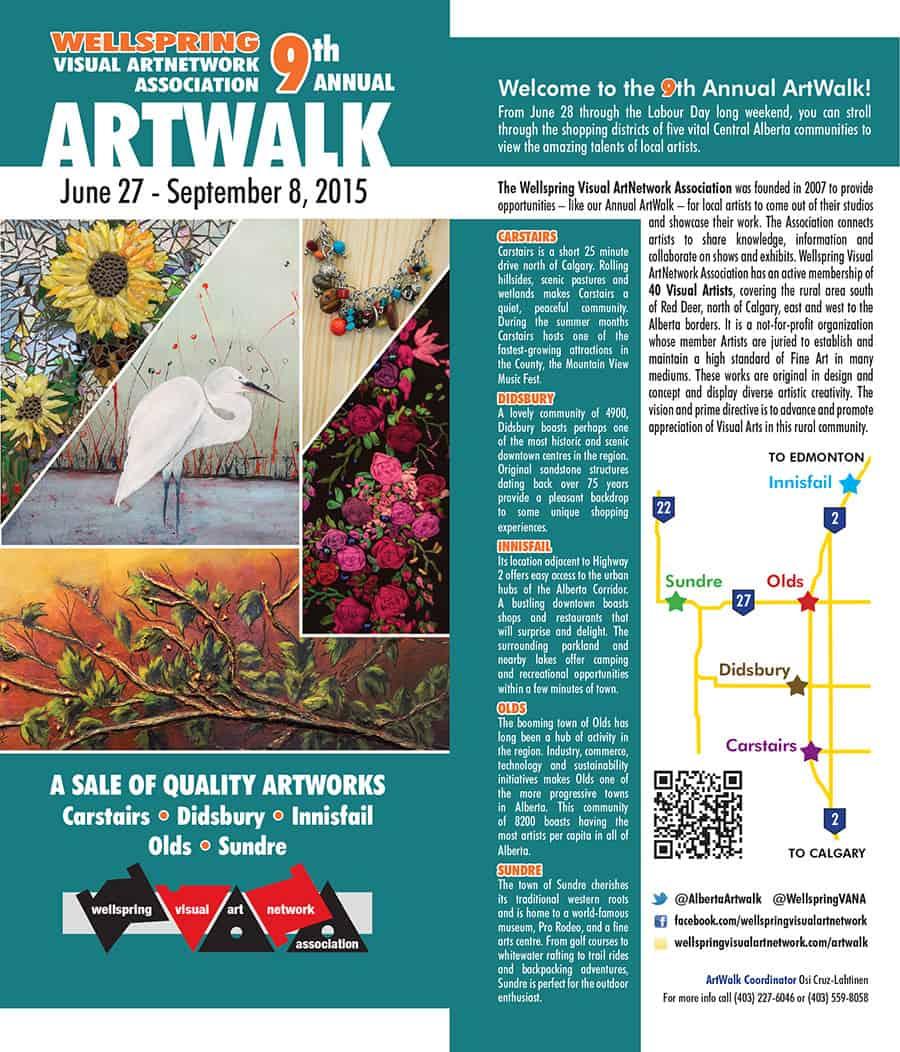 ArtWalk Map Cover 2015