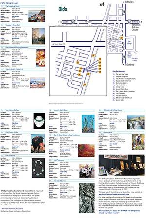 ArtWalk 2009 Map Back